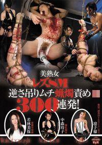 美熟女蕾絲邊SM倒吊皮鞭蠟燭調教300連發!