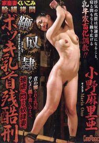 家畜人妻緊縛拷問 鞭奴隸勃起奶頭殘酷刑罰 小野麻里亞